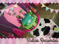 Torta tematica de granja rosa #farmparty