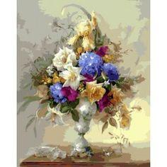 """GX5394 """"Цветы в высокой вазе"""", 40х50 см"""