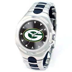 Game Time NFL Men's Green Bay Packers Victory Series Watch, Silver