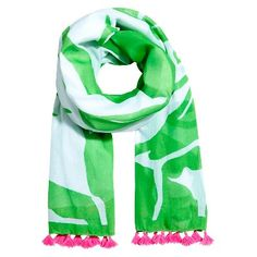 Lilly Pulitzer for Target Women's Scarf with Tassels - Boom Boom