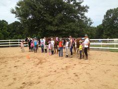 Group riding lesson YEC 2014.