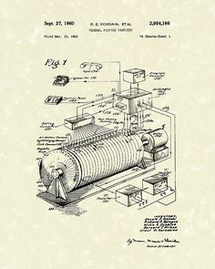This patent art print is based on an Eckdahl General Purpose Computer patent from 1960.