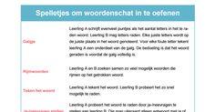 Spelletjes woordenschat.pdf Google Drive, Spelling, School, Schools, Games