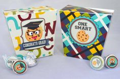 Smart Cookie Graduation Printable Favor Box, great little gift boxes for the grad, or for an end of the year gift for your smart cookie!