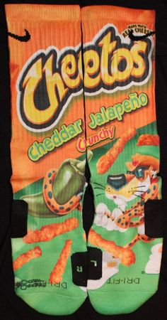 Cheetos Jalapeno Parody Custom Nike Elite Socks