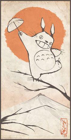 Legendary Totoro by ~XnBlooh at deviantart