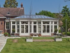 Large Conservatory With Lead Roof In London.