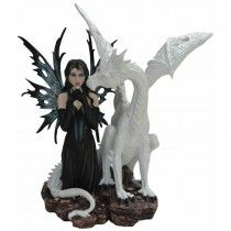 Figurine de Fée Géante avec Dragon Esirya - Boutique Fées et Féerie Legendya