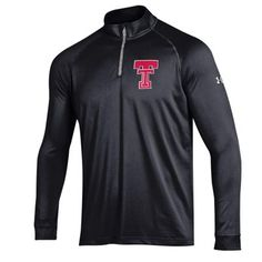 Texas Tech Red Raiders Under Armour Tech 1/4-Zip Pullover Jacket - Black