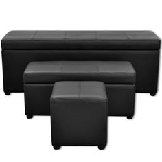 🛍LAY DOWN FOR LESS At #MATTRESSOFFERS - FOR YOUR BEAUTIFUL HOUSE🛍   Black Artificial Leather Storage Bench Set Footrest 3 pcs  👉 𝐃𝐈𝐒𝐂𝐎𝐔𝐍𝐓 𝐂𝐎𝐃𝐄 : 𝐦𝐚𝐭𝐭𝐫𝐞𝐬𝐬  👉 Buy Now Pay Later in Slice with - 𝐀𝐟𝐭𝐞𝐫𝐩𝐚𝐲   𝐙𝐢𝐩𝐏𝐚𝐲   𝐇𝐮𝐦𝐦   𝐋𝐚𝐲𝐛𝐮𝐲   𝐋𝐚𝐭𝐢𝐭𝐮𝐝𝐞𝐩𝐲   𝐏𝐚𝐲𝐢𝐭𝐥𝐚𝐭𝐞𝐫  #storage #afterpaystore Bench Set, Chair Bench, Banquettes, Leather Storage Bench, Artificial Leather, Foot Rest, Black House, Beautiful Homes, Houses