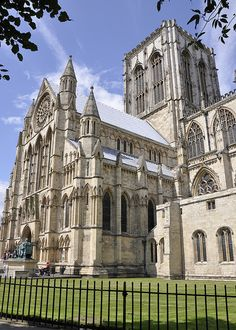 York Minister, UK. A prime example of christian-gothic design, featuring the pointed arch and vaulted ceilings.