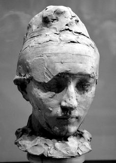 Camille Claudel in a bonnet by Auguste RODIN - Terracotta - M . Auguste Rodin, Musée Rodin, Camille Claudel, Sculpture Head, Abstract Sculpture, Bronze Sculpture, Metal Sculptures, Wood Sculpture, Sculpture Rodin