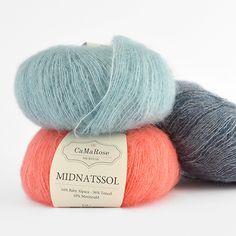 CaMaRose Midnatssol (Midnight Sun) Midnight Sun, Baby Alpaca, Happy Colors, Needles Sizes, Color Combinations, Smocking, Merino Wool, Stitch, Knitting
