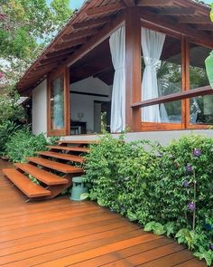 74 inspiration a garden for the ages 55 Rest House, House In The Woods, My House, Tropical House Design, Tropical Houses, Village House Design, Village Houses, Style At Home, My Dream Home
