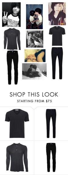 """Me and my shortie"" by killjoy-717 ❤ liked on Polyvore featuring O'Neil, Versace, True Religion, Marc Jacobs, Topman, men's fashion and menswear"