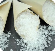 Alternative to Throwing Rice - Snow-Like Confetti