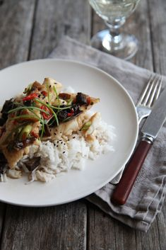 Teriyaki Fish and Mushroom bake from Annabel Langbein. www.annabel-langbein.com