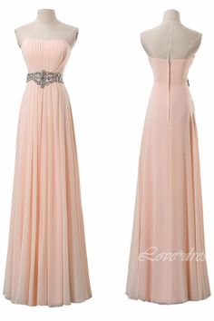 Champagne Long Prom Dresses Strapless Evening Party Dress