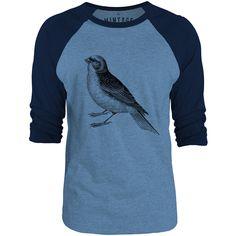 Mintage Little Sparrow 3/4-Sleeve Raglan Baseball T-Shirt (Cobalt Marle / Navy)