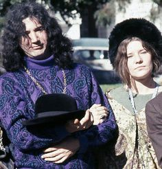 Jerry Garcia from Grateful Dead with Janis Joplin a member of Big Brother and The Holding Company.