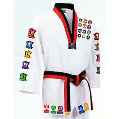 Iron On Decals Transfers for Taekwondo Uniforms Suits Dobok Deco 118 Images MMA