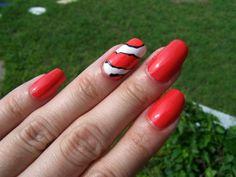 Concrete and Nail Polish: Disney World Nemo Nails