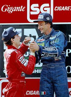 Ayrton Senna with Ricardo Patrese(1992)