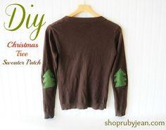 DIY Christmas Tree Sweater Patch