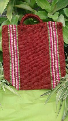 Bolsa artesanal oaxaqueña de yute