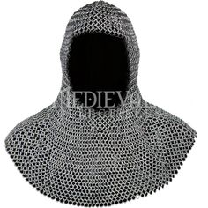 Butted Silver Chainmail Coif - MCI-2138 by Medieval Collectibles