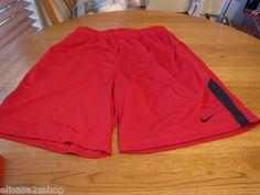 Men's active basketball shorts red black 648 XL mesh dri fit training 432104