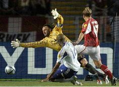 France 3 Switzerland 1 in 2004 in Coimbra. Thierry Henry turns the ball in to make it 3-1 to France after 84 minutes in Group B at Euro 2004.