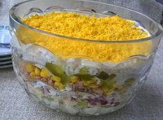 Domowa Cukierenka - Domowa Kuchnia: warstwowa sałatka z tuńczykiem