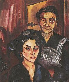 Charley Toorop, La patronne et sa fille, 1922, olieverf op doek, 91 x 78, Kröller-Müller Museum, Otterlo