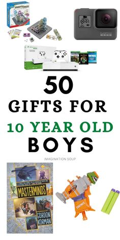 Presents For Boys, Cool Gifts For Kids, Birthday Gifts For Boys, Boy Birthday, Seven Years Old, 10 Years, Christmas Gifts For 10 Year Olds, Christmas Ideas, Birthday Activities