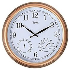 whitehall products acanthus combo clock copper verdi clocks and gardens