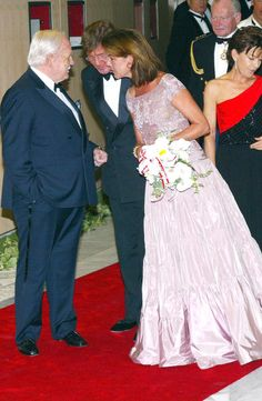2002 - Rainier, Ernst and Caroline at the Red Cross ball