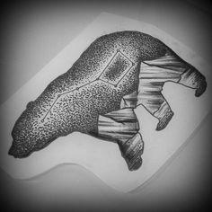 #bear #tattoo #ink #stars