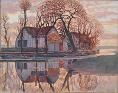 Piet Mondrian - Farm at Duivendrecht (1907)