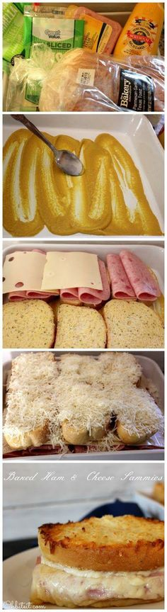 Baked Ham & Cheese Sammies - Love with recipe