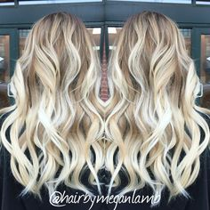 Cool blonde Balayage ombre #balayage #blonde #icyblonde #ombre