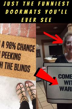 #DingDong #Hilariously #Entertaining #Doormats Edgy Short Haircuts, Luxury Jets, Stylist Tattoos, Romantic Wedding Hair, Small Wood Projects, Funny Doormats, New Years Eve Outfits, Birthday Gifts For Best Friend, Ankle Shoes