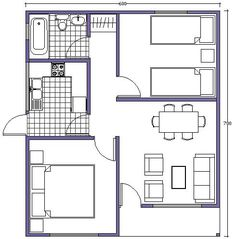 plano de casa 42m2