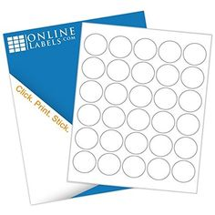 Circle Labels - White Gloss Inkjet - Shop blank inch circle labels on sheets labels per sheet, circle labels). + Free label templates and free access to Maestro Label Designer Software. Sticker Printer, Inkjet Printer, Laser Printer, Custom Printed Labels, Printing Labels, Circle Labels, Round Labels, Free Label Templates, Online Labels