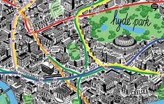 hand-drawn maps by jenni sparks