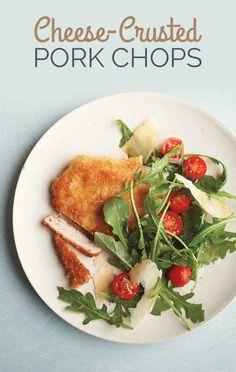 Cheese-Crusted Pork Chops