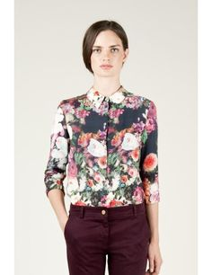 Medwinds for Woman - Apollonia Blouse in Flower Print in Dark Flower Print