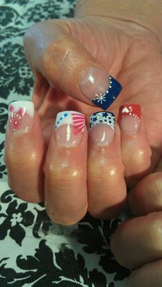 Shidale nails, 4th of July nails, stars and stripes, pic 2.