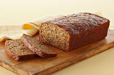 "MIRACLE WHIP ""Take-Five"" Banana Bread recipe - Our warm banana bread is the perfect after-dinner treat! This popular Pin is absolutely DELICIOUS and so EASY to prepare! Easy Banana Bread, Chocolate Chip Banana Bread, Banana Bread Recipes, Chocolate Chips, Baking Recipes, Dessert Recipes, Raspberry Recipes, Kraft Recipes, Recipes"