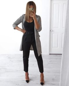work outfits new look Office Outfits Women, Casual Work Outfits, Woman Outfits, Mode Outfits, Work Attire, Work Casual, Classy Outfits, Black Work Outfit, Black Blazer Outfits